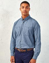 Men`s Organic Chambray Fairtrade Long Sleeve Shirt